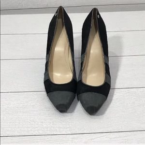 Calvin Klein Black and Gray Calf Hide Heels